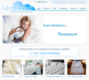 MicroCloud Luxury Hotel bedding